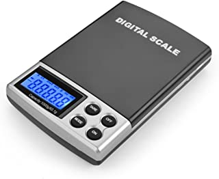 Flexzion Digital Pocket Scale Jewelry Gold Silver Coin Gems Weight Balance Weigh Tool Mini Size 1000 g x 0.1 g High Precis...