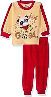 Jockey Embroidered Panda Long Sleeves Round Neck Sweatshirt with Pants Pajama Set for Boys