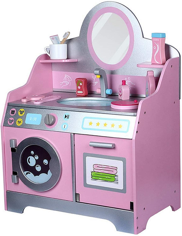 marca famosa Lineary-Juguete Juguetes para Niños Cuarto de baño WC Gabinete Gabinete Gabinete Lavado Mesa Muebles de casa de muñecas de Madera Cuarto de baño Lavabo Kid Pretend Jugar Juguete Cumpleaños  compras de moda online