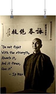 Royal Decor Collection Wing Chun - Do not Fight with The Strength Absorb it and it Flows,use it - IP Man Poster Print Wall Art