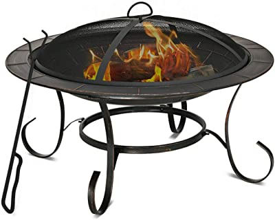 Amazon Com Brant Wood Burning Circular Fire Pit In