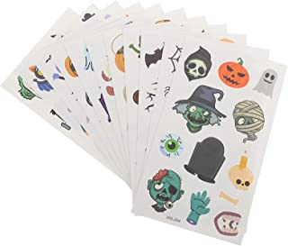 Beaupretty 22 Sheets Kid Halloween Tijdelijke Tatoeages Waterdicht Tattoo Stickers Cartoon Ghost Pompoen Gezicht Decals Vo...