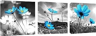 Canvas Wall Art Blue Dandelion Flowers Oil Painting Canvas Wall Art 12