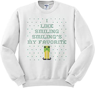 TeesAndTankYou Elf Smiling's My Favorite Ugly Christmas Sweater Sweatshirt Unisex