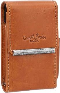 "Custodia portasigarette e accendino""Gage"" di Gusti Leder studio etui fodera vintage elegante marrone chiaro 2T26-22-5"