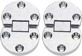 2 piezas de aleaci/ón de zinc autosoportantes bisagras de mesa plegables Inicio Solapas Mesas Muebles Oval Hardware Bisagras para armarios