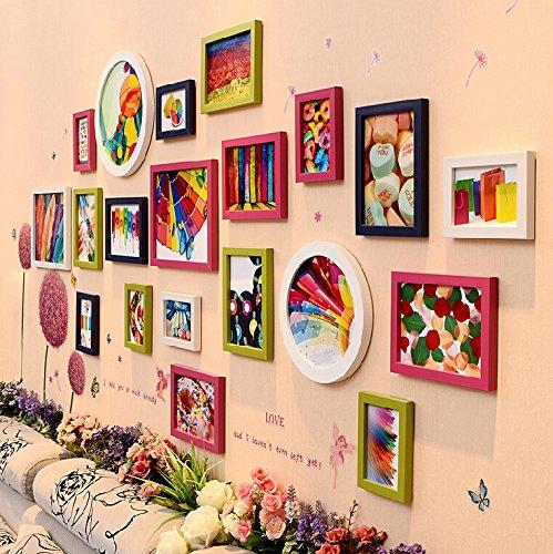 Fotolijst, woon- en eetkamer in Europese stijl met heldere combinatie creatieve fotolijst, ophangen, 20 stuks