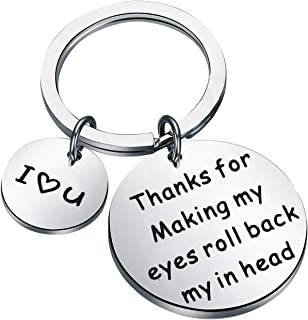 Funny Gift for Boyfriend Husband Naughty Gift Idea for Men Thanks for Making My Eyes Roll Back in My Head Adult Humor Gag ...