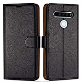 Case Collection Premium Leather Folio Cover for LG K61 Case