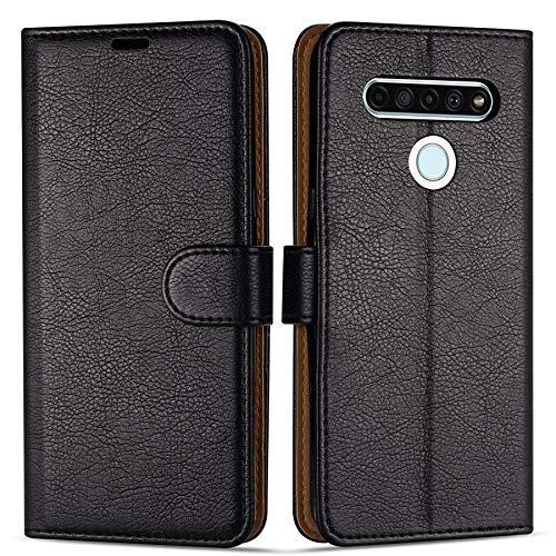 """Case Collection Funda de Cuero para LG K61 (6,53"""") Estilo Cartera con Tapa abatible y Ranuras para Dinero y Tarjeta de crédito para LG K61"""