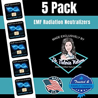 Cell Phone EMF Protection Radiation Neutralizers - Slim Design - Proudly Made in The USA - 5, 10 or 20 Pack - Developed by Dr. Valerie Nelson