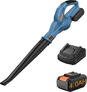 Handife ブロワー 充電式ブロワ 20V 4.0Ahバッテリー コードレス 13000r/min 電動ブロア リーフブロワ 軽量 コンパクト 落ち葉掃除 清掃 水滴吹き飛ばす PSE認証済み