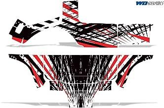 Wholesale Decals Club Car Golf Cart 1983-2014 Full Graphics Kit Slash and Burn Design