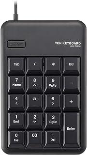 エレコム テンキー 有線 メンブレン Mサイズ 1000万回高耐久 ブラック TK-TCM011BK