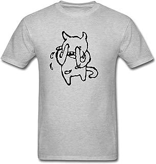 Men's Tumblr Static Radiohead Crying Band Vinyl Decal Stickers Short Sleeve T-Shirt