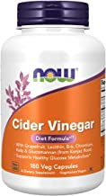 NOW Supplements, Cider Vinegar, with With Grapefruit, Lecithin, B-6, Chromium, Kelp & Glucomannan (from Konjac Root), 180 ...