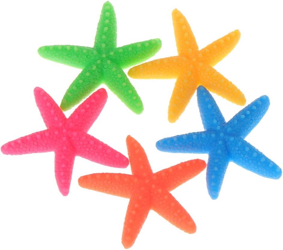 BOBEINI 5pcs acquario artificiale colorato stella marina decorazione acquario ornamenti resina