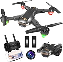 ScharkSpark Drone Thunder with Camera Live Video, RC Quadcopter with 2 Batteries, Easy to Operate for Beginners, Foldable Arms, 2.4G 6-Axis, Headless Mode, Altitude Hold, One Key Take off and Landing,