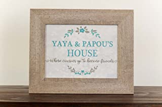 Yaya and Papou House Where Cousins Go To Become Friends Gift Grandparents Picture Framed Art Decor 13x16