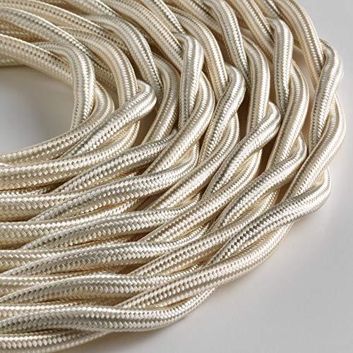 Klartext – Cable textil trenzado luminoso TV/LAN, marfil, 5 m. Atención: cable...