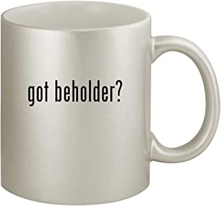 got beholder? - Ceramic 11oz Silver Coffee Mug, Silver