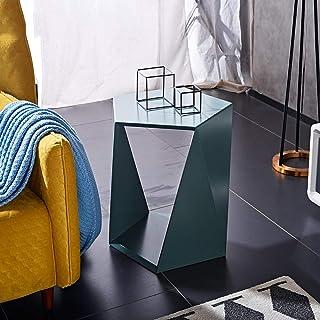 Table Basse Ronde de Salon,Canapé Nordique Côté Armoire Salon, Petite Table Basse Élégante, Bureau D'Ordinateur Mobile, Ta...