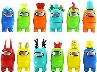 BESTZY Among us Jouets 12PCS Among Us Figurines Miniatures Hot Game Animal Dolls Toys Among Us Poupées pour Enfants Annive...