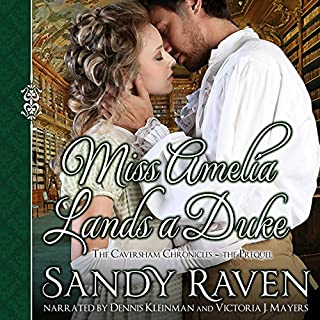 Miss Amelia Lands a Duke audiobook cover art