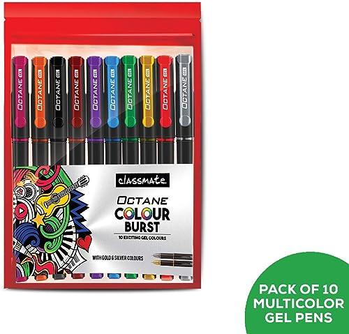 Classmate ITC Octane Colourburst Pen (Multicolour)- Pack of 10 product image