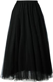 MASSAYA Women's Skirt (MS 668, Black, Free Size)