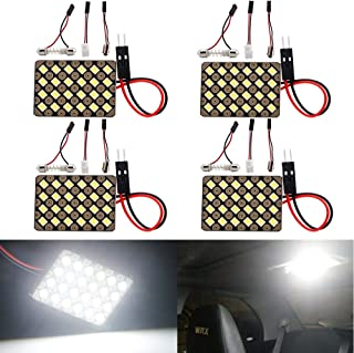 Everbright 4-Pack Super White Led Panel Dome Light Lamp, 2835 24SMD Led Interior Car Lights Auto Led Dome Light with T10 /...