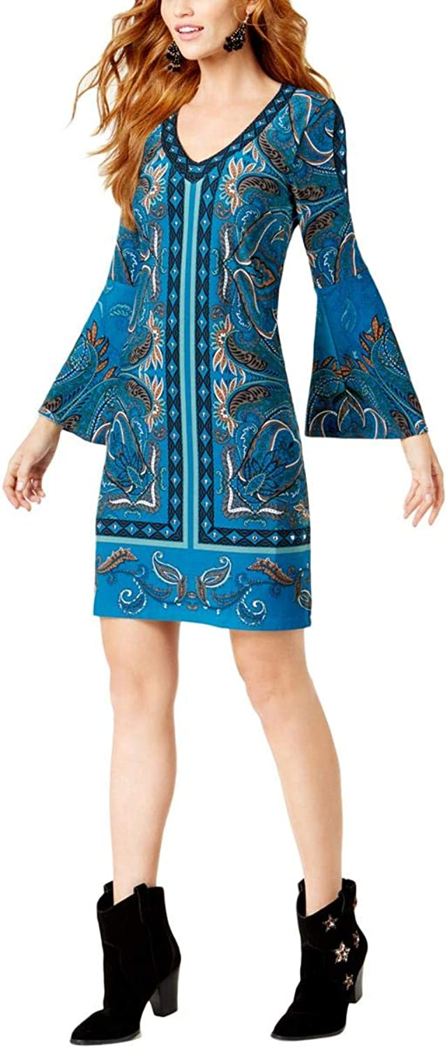 INC International Concepts Petite Embellished BellSleeve Dress