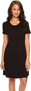 Intimates Womens Maternity Nursing Breastfeeding Nightgown Sleep Dress Shirt
