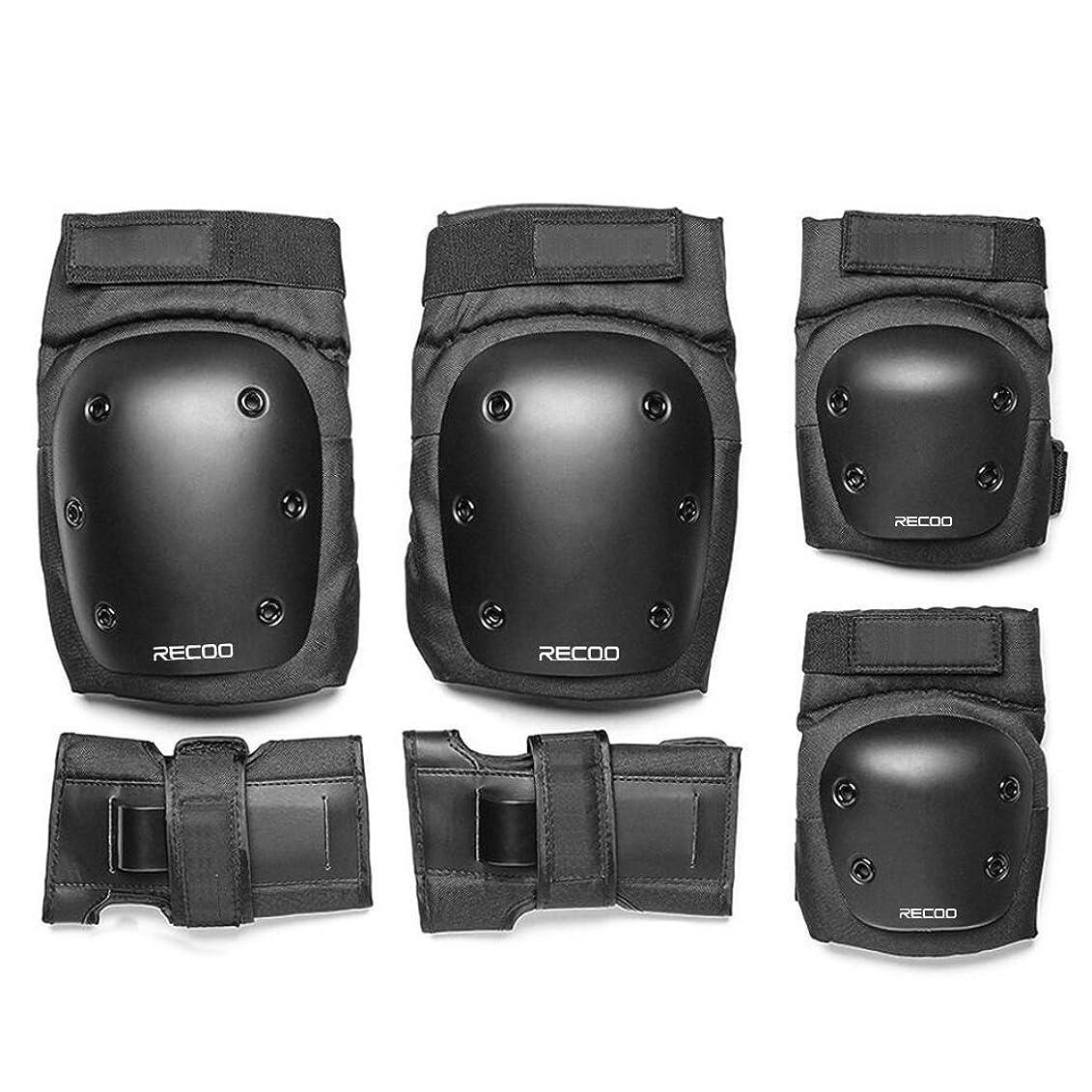 コンペ令状消費者スケートボード プロテクター 3点セット 手首 肘 膝ガードスケートボード用パッド 収納袋付き (M)