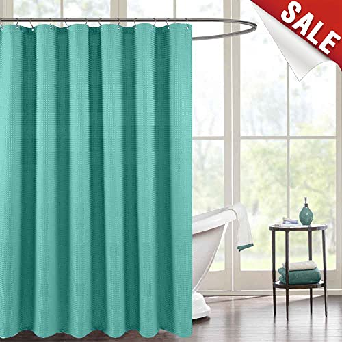 Jinchan Shower Curtain For Bathroom Waterproof Waffle Weave Fabric In Bath Rust Resistant