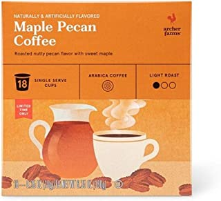 Archer Farms Maple Pecan Coffee K Cups, 1 Pack, 18 Count, 6.35 oz
