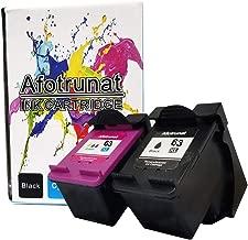 Afotrunat Remanufactured Ink Cartridge for HP 63XL 63 XL for Envy 4520 4516 Officejet 5255 5258 3830 4650 3831 3833 4655 DeskJet 1112 3630 3632 2130 2132 (1 Black 1 Tri-Color)