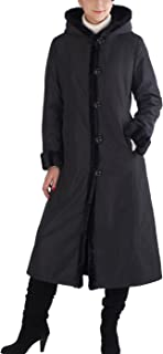 BGSD Women's Lorraine Hooded Reversible Faux Mink Fur Maxi Walking Coat