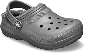 Crocs Kids' Classic Lined Clog | Indoor or Outdoor Warm and Cozy Toddler Shoe or Slipper