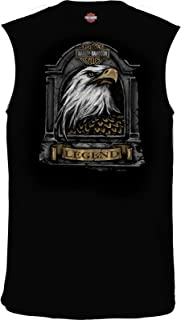 HARLEY-DAVIDSON Military - Men's Black Sleeveless Eagle Graphic T-Shirt - USAG Stuttgart | Stone Feathers