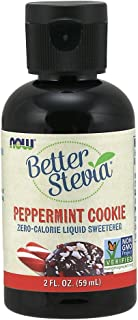 Now Foods Better Stevia, Zero-Calorie Liquid Sweetener, Peppermint Cookie, 59ml