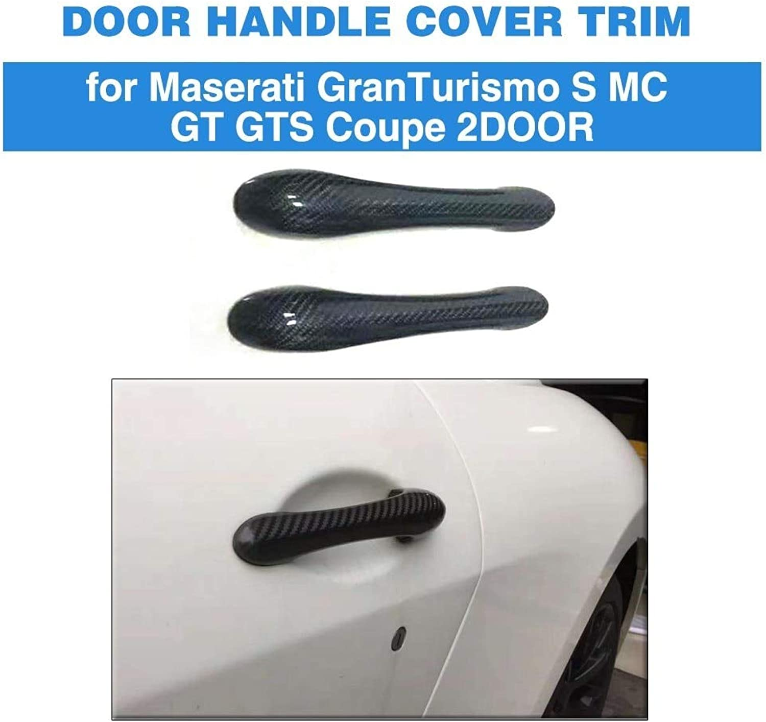 Car Door Handle Covers Trim for Maserati Granturismo S MC GT GTS Coupe 2 Door 20082012 Carbon Fiber Stickers