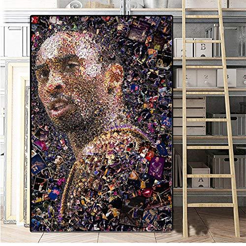LDTSWES - Póster abstracto con impresión de estrellas de baloncesto, para decoración principal de salón 30 x 40 cm