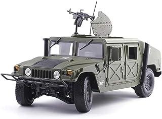 YuYzHanG Coche De Juguete Militar Modelo de Juguete Diecast Modelo 1:18 Humvee Campo de Batalla del vehículo aleación Coche Niños
