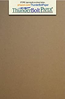 50 Sheets Chipboard 46pt (point) 3 X 5 Inches Medium Weight Photo|Card Size .046 Caliper Thick Cardboard Craft|Packing Brown Kraft Paper Board