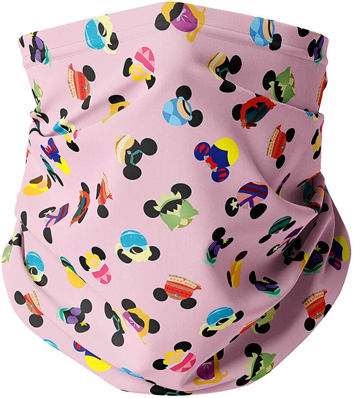 Neck Gaiter Face Covering - Princess Mouse Ears