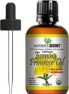 Sponsored Ad - Evening Primrose Oil USDA Certified Organic/Natural/Undiluted/Unrefined/Cold Pressed Carrier Oil. Rich anti...