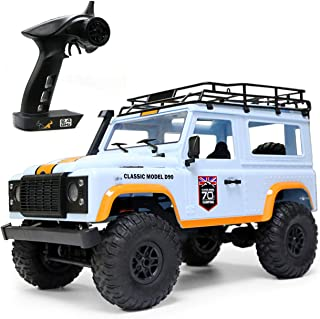 The perseids 1:12 2.4G 4WD RC Car Off-Road High-Speed Vehicle Minitary Truck Climb Rock Crawler Hobby Grade RTR Toy for Kids Over 14 Years Old and Adults in Blue