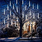 FANSIR Meteor Lights 192 LED Falling Snowfall Lights Meteors Shower Rain Lights 30cm 8 Tubes Cascading Light...