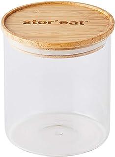 MASTRAD - Bocal De Stockage - Connecté Stor'Eat - Verre Borosilicate Résistant - Protège de l'Humidité - Couvercle Herméti...